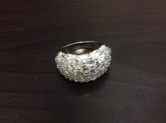 Other Fashion Ring Cubic Zirconia Silver Simulated Diamond Image 7