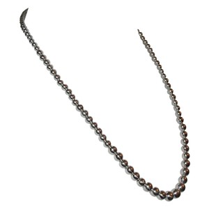 Other Shiny Sterling Silver Graduated Ball Bead Necklace