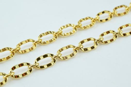 Other Hammered Oval Chains Gold Filled 18KT Necklace Image 2