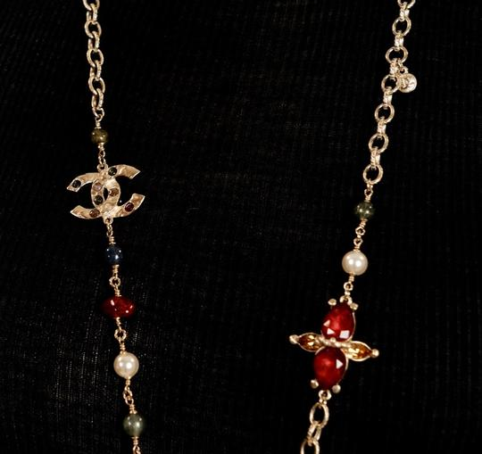 Chanel Long Gold Necklace Image 8
