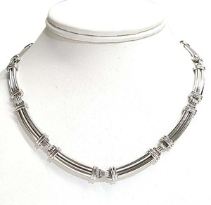 Scott Kay Gorgeous Heavy Platinum Necklace 16.5