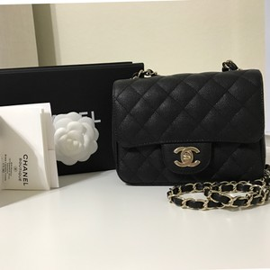 Chanel Mini Flap Ghw Caviar Square Mini Cross Body Bag