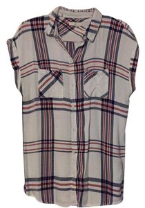 BLL Button Down Shirt red white and blue
