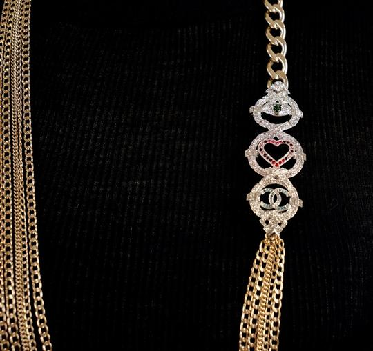 Chanel Long Gold Necklace Image 10