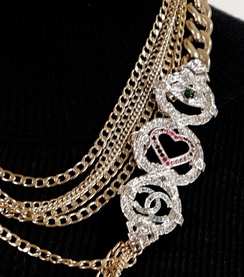 Chanel Long Gold Necklace Image 9