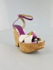 Jimmy Choo Purple and White Sandals