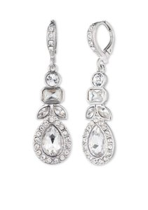 Givenchy Givenchy Silver-Tone Pear Drop Earrings