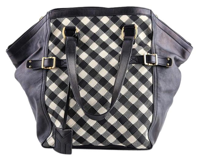 Item - Yves Check Print Multicolor Leather Hobo Bag