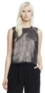 Vince Camuto Crop Sleeveless Top Black and Bronze