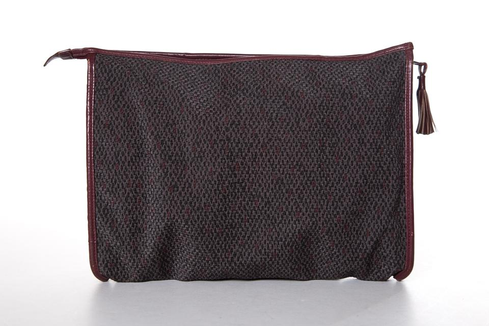 Clutch amp; Burgundy Yves Laurent Grey Saint ZatXpW