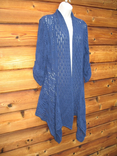 Coldwater Creek Crochet Knit Open Front Cardigan Image 1