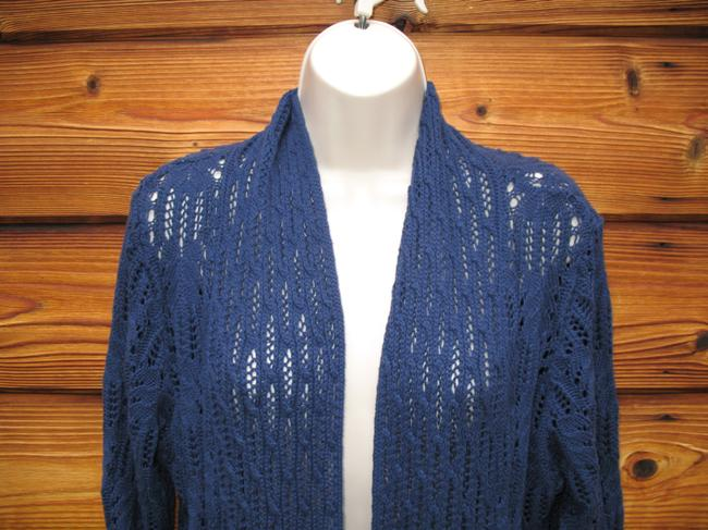 Coldwater Creek Crochet Knit Open Front Cardigan Image 2