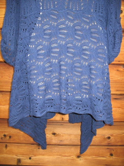 Coldwater Creek Crochet Knit Open Front Cardigan Image 5