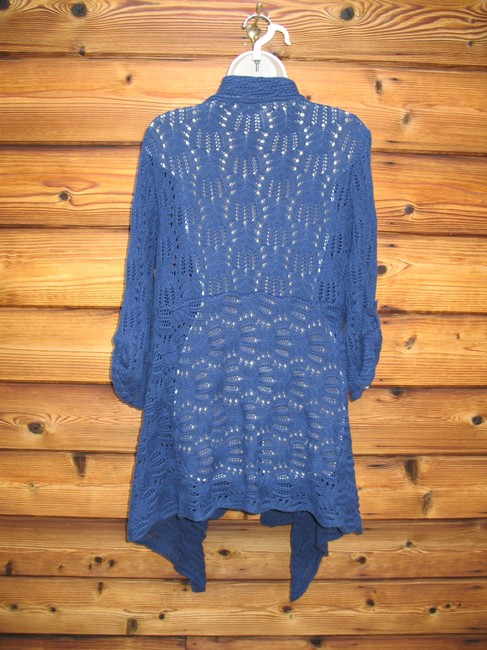 Coldwater Creek Crochet Knit Open Front Cardigan Image 6