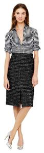 J.Crew Pencil A Line Shimmer Skirt Multi Black