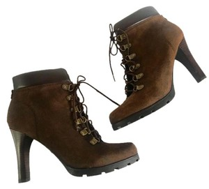 Ralph Lauren Dark Lace-up Brown Boots