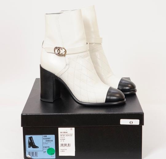 Chanel Black/White Boots Image 1
