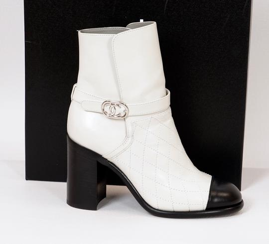 Chanel Black/White Boots Image 3