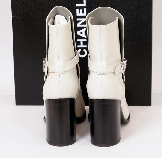 Chanel Black/White Boots Image 5