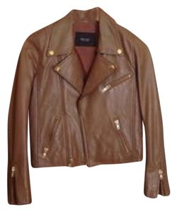 Maje Beige brown Leather Jacket