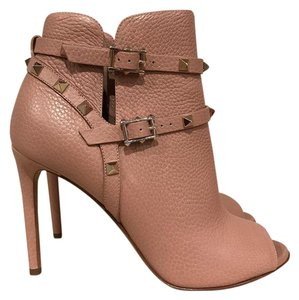 Valentino Stiletto Bootie Studded nude Boots