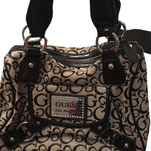 Guess Satchel in Black/tan