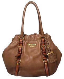 Prada Leather Cervo Deerskin Hobo Bag