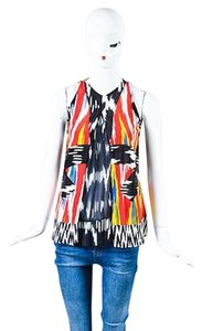 Altuzarra Ikat Print Sl Top Multi-Color