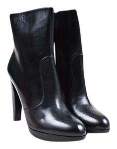 Brian Atwood Leather Platform Gwen Black Boots