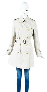 Burberry London Light Khaki Classic Trench Trench Coat