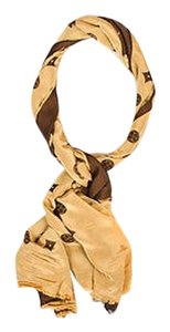 Louis Vuitton Louis Vuitton Brown Tan Monogrammed Silk Scarf