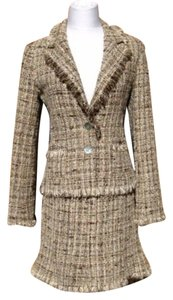 Avenue Montaigne Avenue Montaigne Paris Size Medium Tweed Fringe Wool Blend Skirt Suit Jacket