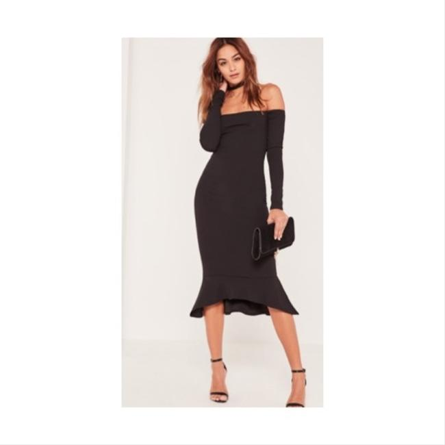 Preload https://img-static.tradesy.com/item/20304427/missguided-black-bardot-fishtail-mid-length-formal-dress-size-2-xs-0-0-650-650.jpg