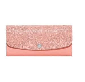 Michael Kors NWT Juliana Large Color-Block Saffiano Leather Wallet Pale Pink