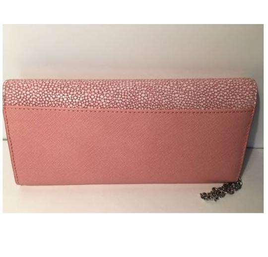 Michael Kors NWT Juliana Large Color-Block Saffiano Leather Wallet Pale Pink Image 3