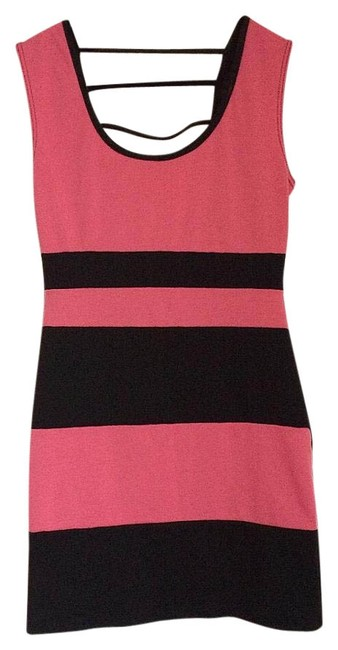 Preload https://img-static.tradesy.com/item/20304471/black-and-pink-above-knee-night-out-dress-size-8-m-0-1-650-650.jpg