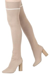 Other Thigh High Knit NUDE Boots