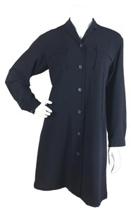 Jil Sander short dress Navy Blue on Tradesy