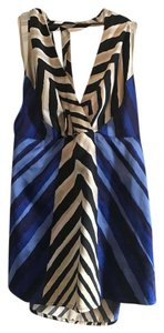 The Limited Halter Satin Limited Tie Night Out Brown Blue White Halter Top