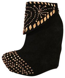 Jeffrey Campbell Black with Studs Boots