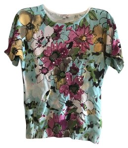 Other Sequin Floral Bright Flowers Sweater
