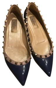 Valentino Fashion Rivet blue Flats