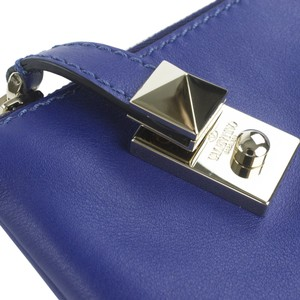 Valentino Rockstud Leather Blue Clutch