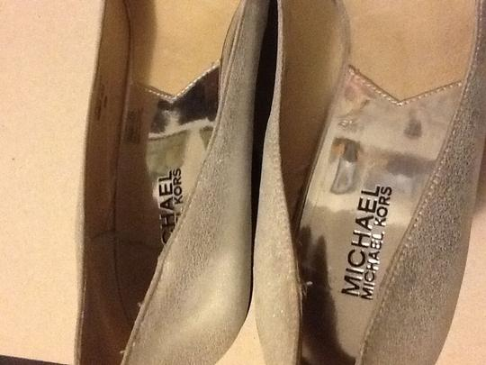 Michael Kors Silver/black Wedges Image 1