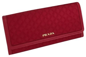 Prada nylon calf leather wallet