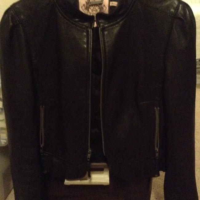 Juicy Couture brown Leather Jacket Image 3