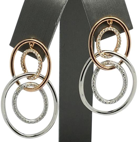 Preload https://img-static.tradesy.com/item/20305129/18k-solid-rose-gold-and-white-gold-open-oval-natural-diamond-dangling-earrings-0-1-540-540.jpg