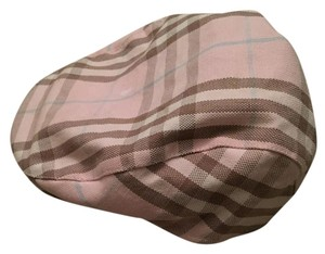 Burberry Pink Multicolor Burberry Newsboy Cap