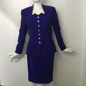 Escada Escada Couture Cobalt Blue Skirt Suit