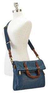 Fossil Explorer Convertible Blue Tote in Heritage Blue